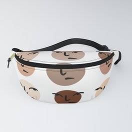 Colorful Faces Fanny Pack