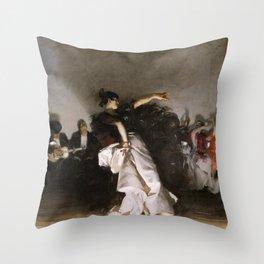 El Jaleo (Spanish Dancer) - John Singer Sargent Throw Pillow