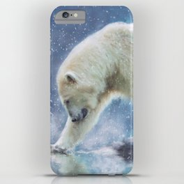 A polar bear at the water iPhone Case