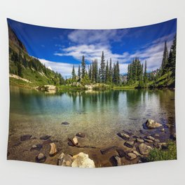 Mountain Lake in the Mt Rainier National Park Wall Tapestry
