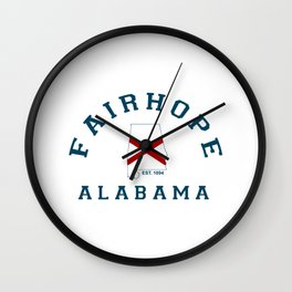 Fairhope - Alabama. Wall Clock