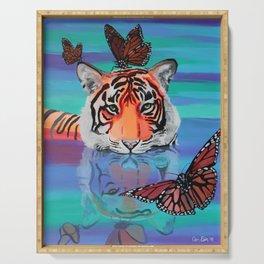 Fluttery Friends - Tiger and Butterflies Serving Tray