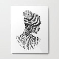 Fingerprint Silhouette Portrait No.1 Metal Print