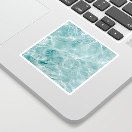 Clear blue water   Colorful ocean photography print   Turquoise sea Sticker