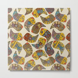 love bird paisley Metal Print