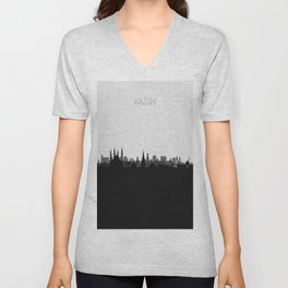 City Skylines: Kazan Unisex V-Neck