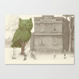The Night Gardener - The Owl Tree Canvas Print