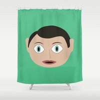 frank Shower Curtains featuring frank by Live It Up
