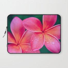 Aloha Hawaii Kalama O Nei Pink Tropical Plumeria Laptop Sleeve