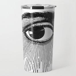 I See You. Black and White Travel Mug