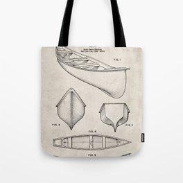 Canoe Patent - Kayak Art - Antique Tote Bag