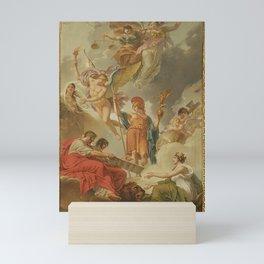 Charles Meynier - La Terre recevant des empereurs Adrien et Justinien le code des lois romaines dict Mini Art Print