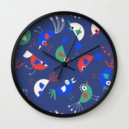 Geometric Birdies Wall Clock