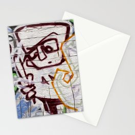 retro scan 001 Stationery Cards