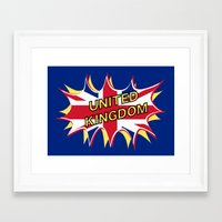 union jack Framed Art Prints featuring Union Jack by mailboxdisco
