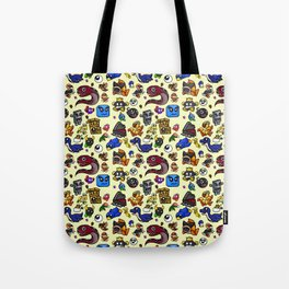 Friends and Foes of the 64-bit Plumber Tote Bag