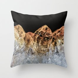 Fire and Ice Citrine crystals Throw Pillow