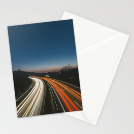 Highway at night Stationery Cards