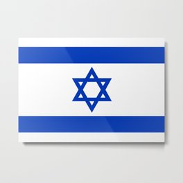 National flag of Israel Metal Print