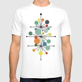 Atomic Age Nuclear Abstract Motif — Mid Century Modern Pattern T-shirt