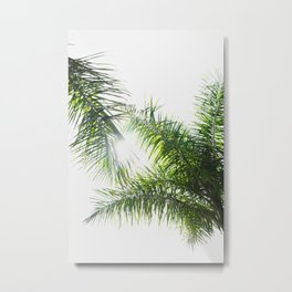 Summer Palm Trees - Modern Minimalist Metal Print