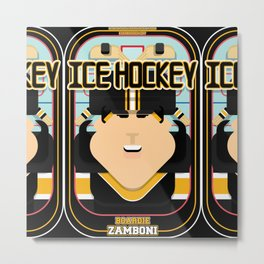 Ice Hockey Black and Yellow - Boardie Zamboni - Amy version Metal Print