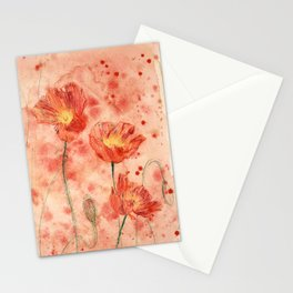 beauTEAful blooms: Poppies Stationery Cards