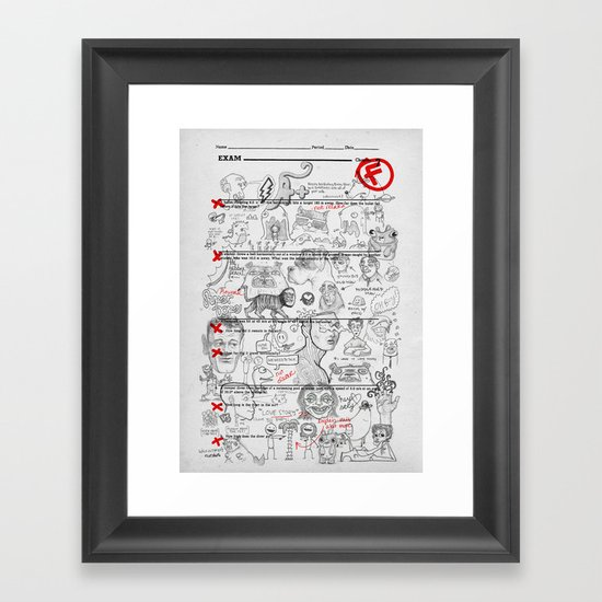 Forgot To Study Framed Art Print