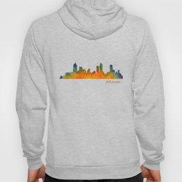 Atlanta City Skyline watercolor Hq v1 Hoody