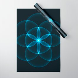 Glowing Flower of Life Wrapping Paper