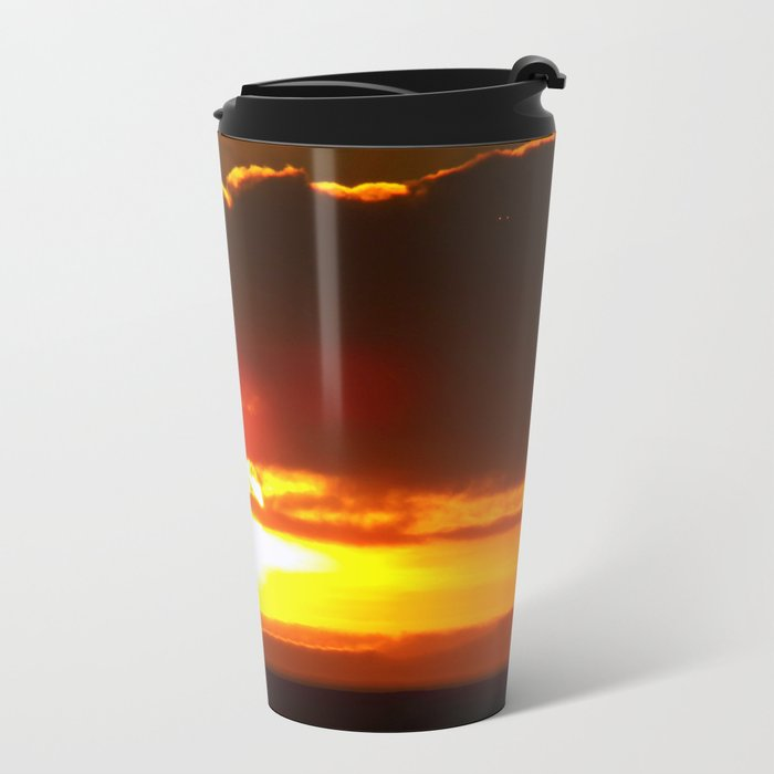 Sunset Metal Travel Mug