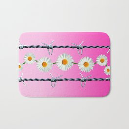 Barbed Wire and Daisies Bath Mat
