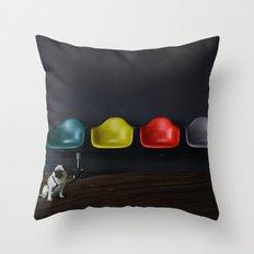 Vitra dog Throw Pillow