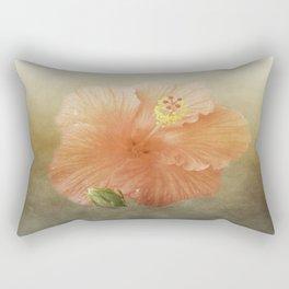 Warm Hibiscus Rectangular Pillow