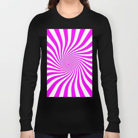 Swirl (Fuchsia/White) Long Sleeve T-shirt