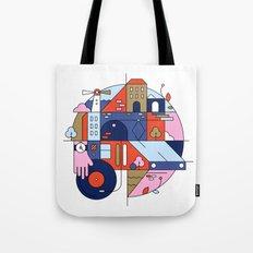 City Tram Tote Bag