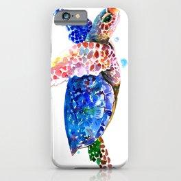 Sea Turtle, blue rainbow iPhone Case