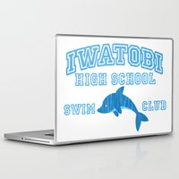 iwatobi Laptop & iPad Skins featuring Iwatobi - Dolphin by drawn4fans