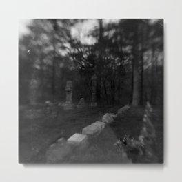 Dark Cemetery Metal Print
