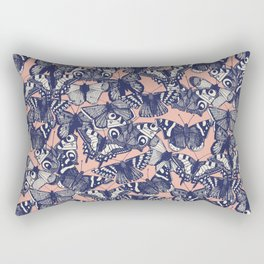 butterfly pale coral Rectangular Pillow