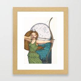 Goddess Diana Framed Art Print