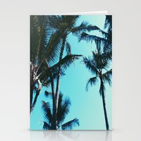 palm trees Stationery Cards featuring Palm Trees by Alexandra Str