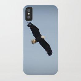 Bald Eagle in Flight Color Photo iPhone Case