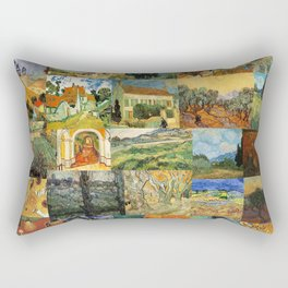 Vincent van Gogh Montage Rectangular Pillow