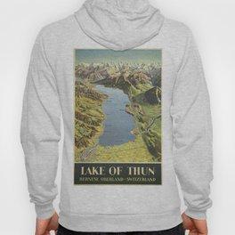 Vintage poster - Lake of Thun Hoody