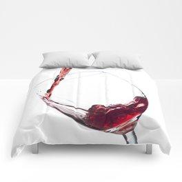 Elegant Red Wine Photo Comforters