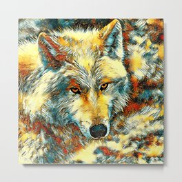 AnimalArt_Wolf_20170603_by_JAMColorsSpecial Metal Print