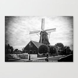 Amsterdam Windmill Girl Canvas Print