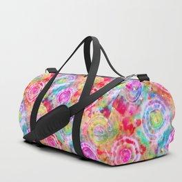 Rainbow Tie Dye Cosmos Duffle Bag