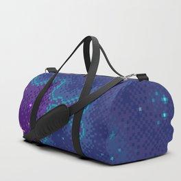 Purple Sparkle Galaxy Duffle Bag